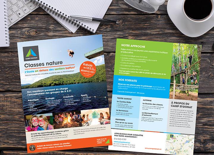 Camp St-Donat - Feuillet Classe nature pour écoles